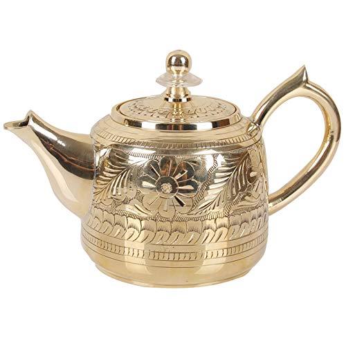 POTOLL Set di pentole di Rame in Ottone teiera Fatta a Mano in Puro Rame casa Grande Kung Fu tè Pieno di tè bollitore Addensato
