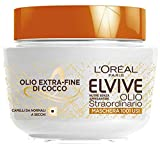 L'Oréal Paris Maschera Nutriente Elvive Olio Straordinario Olio Fine di Cocco per Capelli da Normali a Secchi -300 ml