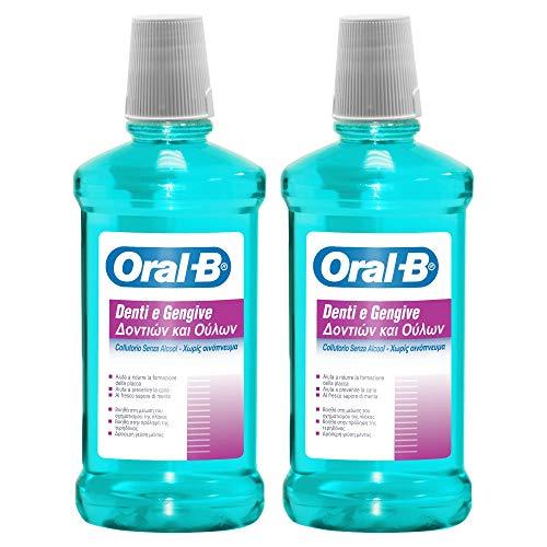 Oral-B Collutorio Denti e Gengive, set da 2x500ml
