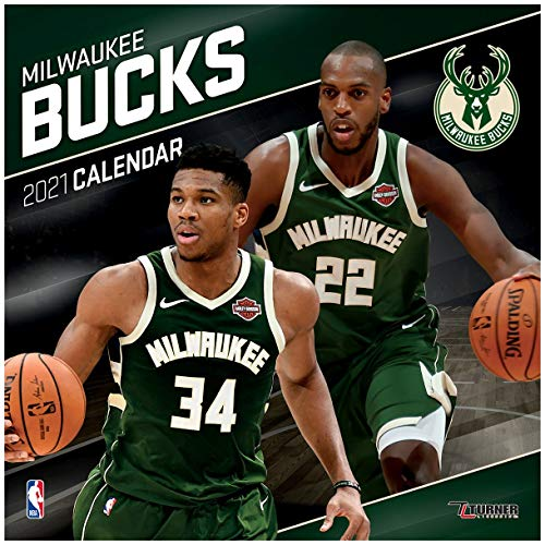 TURNER Sports Milwaukee Bucks 2021 12X12 Team Wall Calendar (21998011885)