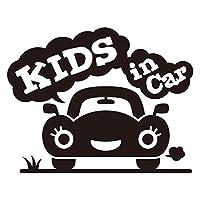 imoninn KIDS in car ステッカー 【パッケージ版】 No.25 クルマさん (黒色)