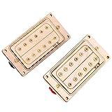 Micro chevalet de manche Humbucker professionnel pour les guitaristes et les amateurs de bricolage pour les amateurs de musique(Gold core and screws)