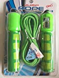 KriToy Skipping Rope Jump Rope with Counting Meter for Gym Training Weight Reducing Warm Up Sports - 9 feet Adjustable Length
