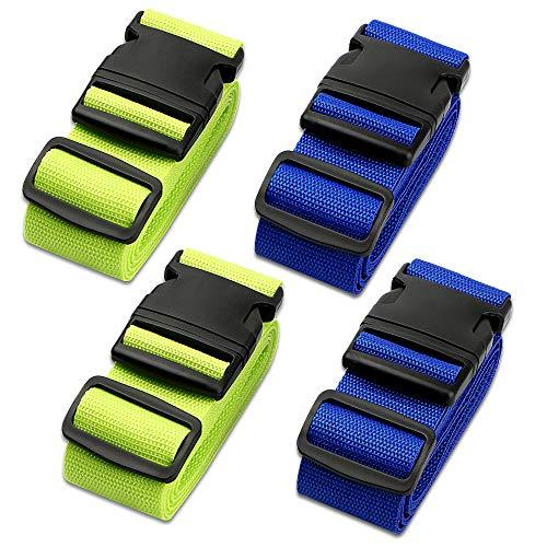 Koffergurt, solawill Kofferband Einstellbare Gepäckgurt Travel Accessories Kofferband Gepäckband zum Sicheren Verschließen der Koffers auf Reisen und Kennzeichnen von Gepäck - 4 Stück
