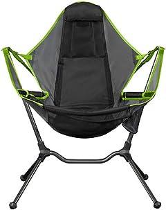 qwertyu sillas de camping, columpio reclinable, relajación columpio comodidad espalda inclinada silla plegable al aire libre