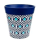 Hum Flowerpots Pot pour plantes, pots de fleurs colorés pour pots intérieurs / extérieurs, plantes moyennes 22cm x 22cm