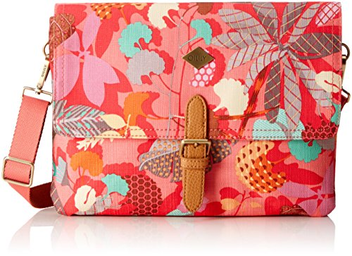 Oilily Damen M Flat Shoulder Bag Umhängetasche, (Pink Flamingo), 2.5x20.5x28 cm