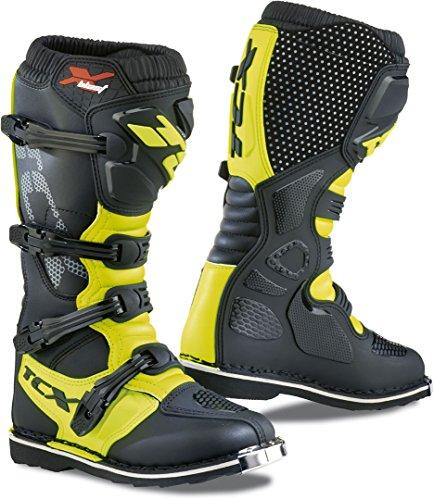 TCX X-Blast Men's Off-Road Motorcycle Boots - Black/Yellow Fluo / 38