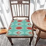 Cojín de espuma viscoelástica, patrón geométrico azteca sin costuras, comodidad y suavidad superiores, lavable, asiento de coche/silla de oficina/sillas de comedor