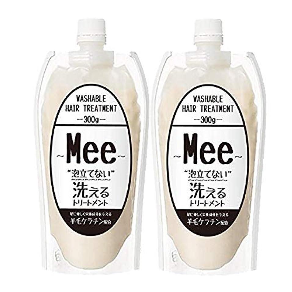 エコーナンセンスばかまとめ買い【2個組】 洗えるトリートメントMEE Mee 300g×2個SET クリームシャンプー 皮脂 乾燥肌 ダメージケア 大容量 時短