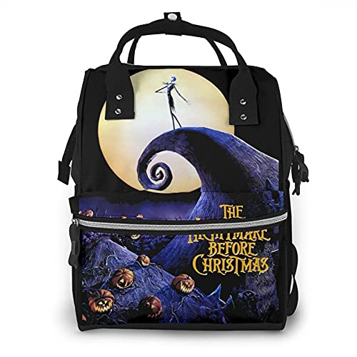 Yuanmeiju Baby Diaper Bag The Nightmare Before Christmas Nappy Tote Bags for Mom & Dad Mummy Backpack