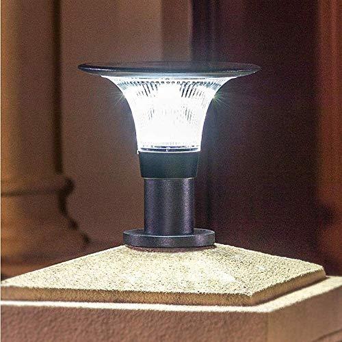 Foco LED solar de 3 W, iluminación de jardín, lámpara de césped, lámpara de pared de aluminio al aire libre, impermeable, lámpara de pared Villa chapiter, lámpara de jardín comunitario, luz blanca