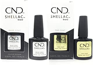 Cnd Shellac Top/Base Esmalte Gel - 1 Paquete de 2 x 7.3 ml