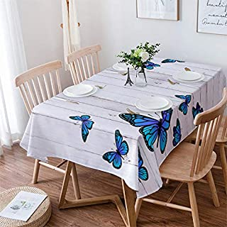 Infinidesign Rectangle Butterfly Tablecloth 60x84inch Stain Proof Table Cloth Wrinkle Proof Table Cover for Parties, Weddi...