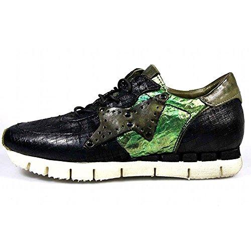 Goldmud A.S.98 Sneaker Macchia 139106-0101-0001 Nero-ORO-Loden (38)