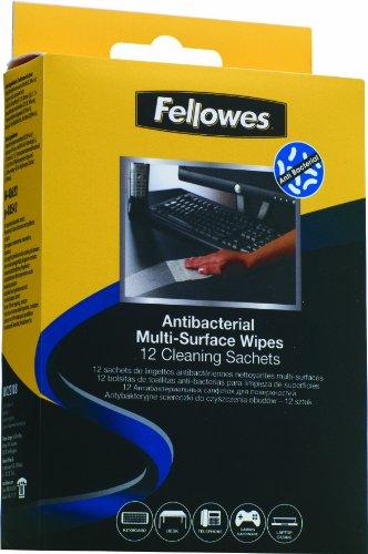 Fellowes 2218801-12 bolsas de toallitas limpiadoras multisuperficies