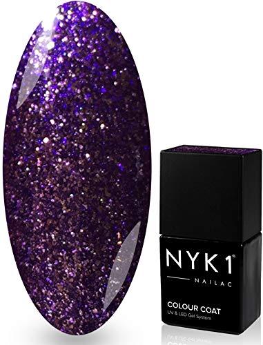 Vernis à ongles gel professionnel Shellac - Nyk1 Nailac - Quality Street - Séchage rapide sous lampe UV et LED - Soak off - 10 ml - Plus de 100 couleurs au choix
