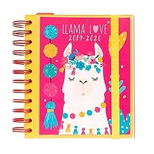 51PYBRBwwLL. SS300  - Agenda escolar 2019/2020 día página M Llama Lover