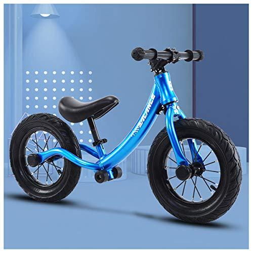 GJNWRQCY Kids Balance Bike Training Bike Kids Bike Geen Pedaal Lichtste Aluminium Frame Verstelbare Stoel Kids Eerste Fiets Leeftijden 2 tot 6 Jaar.