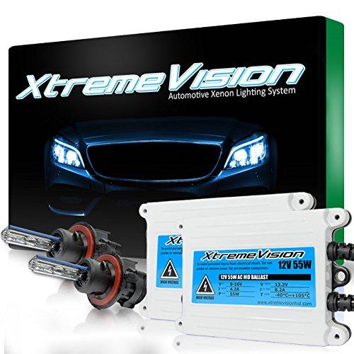 XtremeVision 55W AC Xenon HID Bundle with Slim AC Ballast (1 Pair) and Bi-Xenon H13 / 9008 10000K - 10K Dark Blue Xenon Bulbs (1 Pair)