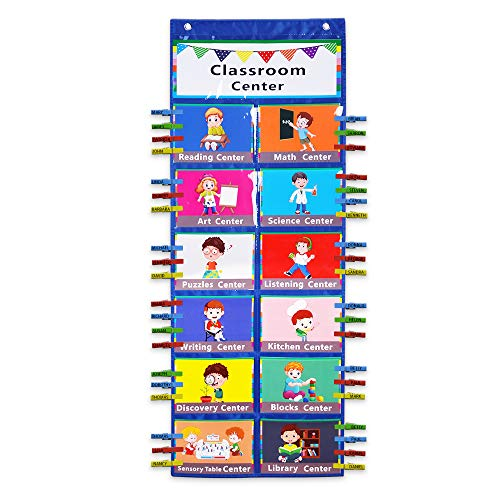 Classroom Center Pocket Chart,Classroom Management Pocket Chart,Classroom Course Tracking Pocket Charts,Classroom Track Pocket Chart