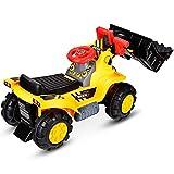 DREAMADE Kinder Sitzbagger, Bulldozer zum Sitzen, elektrischer Trettraktor mit Schaufel (ohne...