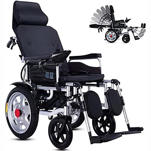 FC-LY Rueda eléctrica de Lujo, Rueda Plegable de Ayuda de Movilidad compacta, Scooter médico liviano y Joystick Ajustable