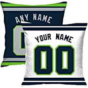 Custom Football personalized Throw Pillow Covers is easy! Add a note to your order Player name and Number, We'll handle the rest. The processing time is about 5-7 days to prepare your order. printpersonalizedselectanyname&anynumber Material:10...