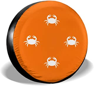 Beach Creature Happy Blood Red Crab Wheel Protector Jeep Spare Tire Cover Tire Cover Waterproof Uv Sun 14 - 17 Fit for Jeep Trailer Rv SUV and Many Vehicle