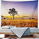This tapestry is made of high-quality Polyester, Soft, Durable, Skin-friendly and Lightweight. This tapestry adopts advanced HD print technology makes the pattern vivid and bright-colored, It will add your room a more permanent harmonious decoration....