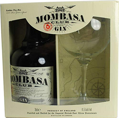 Gin Mombasa Club 41.5 ° 70cl with Mombasa cup