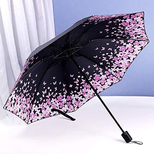 vouwbare zon paraplu kleine verse vouwen eenvoudige zon paraplu godin paraplu dual-use vrouw vintage vinyl handmatige paraplu