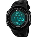 Digital Sports Watch Water Resistant Outdoor Easy Read Military Back Light Black Big Face Men's 1167