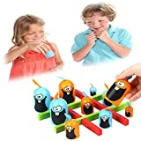HEOLIEN Big Eat Small Stacked Cup Tic-TAC-Toe Toys, Stacked Cup Board Game, Parent-Child Interactive Toys