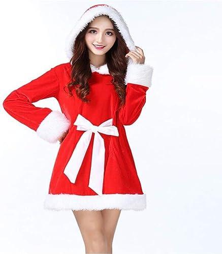 tienda en linea CVCCV CVCCV CVCCV Disfraces De Navidad Ropa De Baile Material De Terciopelo Dorado Ropa De mujer CóDigo De Talla (rojo)  tienda de descuento