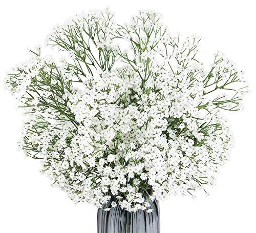 Omygarden White Artificial Gypsophila, Baby Breath Artificial Flowers Bulk, Home Office Wedding Decoration