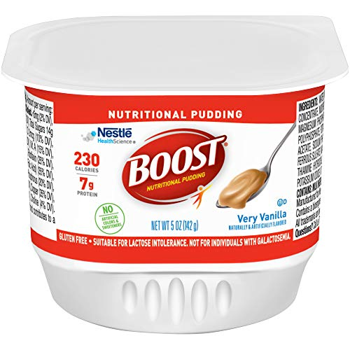 Boost Nutritional Pudding, Vanilla, 5 Ounce Cups (Pack of 48)