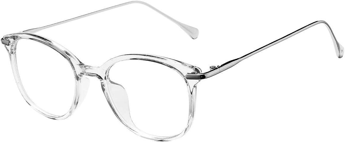 San Antonio Mall AZORB Round Clear Glasses for Eyewear Women Arlington Mall Non-Prescription Fra