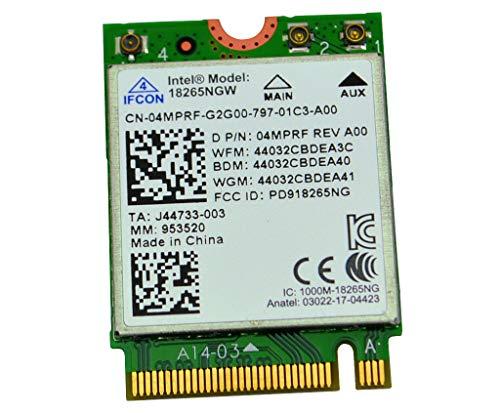 INTEL 18265NGW TRI-Band Wireless-AC Dual Band WiFi Bluetooth 4.2 Card DELL 4MPRF