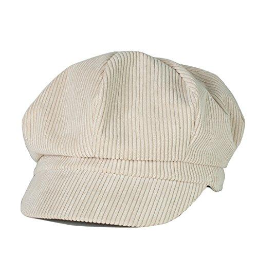 Kuyou Kuyou Winter Gatsby Newsboy Barett Cap Schirmmütze Kappe Hut (Beige)