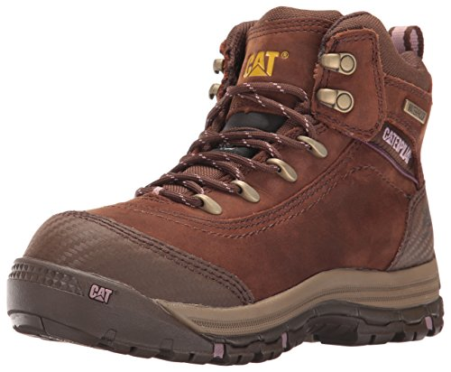 "Caterpillar Womens Ally 6"" Waterproof Comp Toe Industrial and Construction Shoe, Brown, 5 M US"