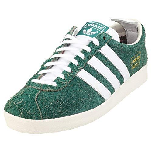 adidas Originals Gazelle Vintage, Collegiate Green-Footwear White-Off White, 11