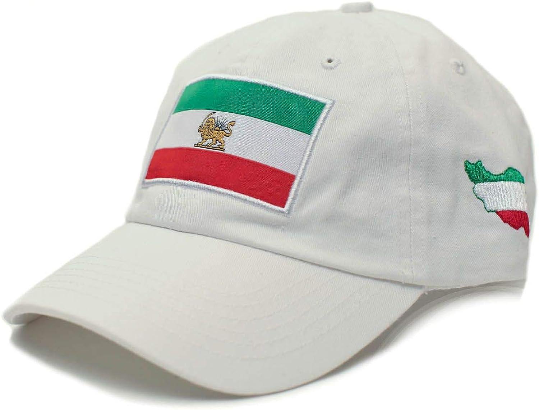 Posse Comitatus Persia Persian Iran Iranian Hat Flag Applique Embroidered Buckle Cap White