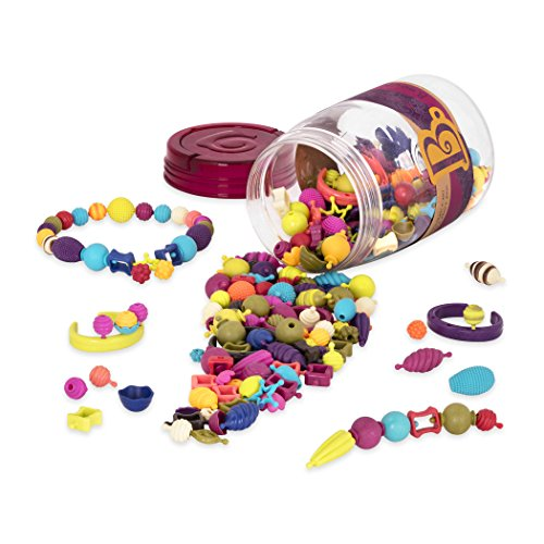 B. toys - Pop Snap Bead Jewelry Set for Kids - Pop Arty! - DIY Craft Jewelry Making Kit - Creative Necklaces, Rings, Bracelets - 4 years + (275 Pcs)