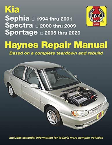Kia Sephia 1994-2001 Spectra 2000-2009 Sportage 2005-2020: Models Covered:kia Sephia 1994-2001, Kia Spectra 2000-2009, Kia Sportage 2005-2020: Based ... Vehicles (Hayne's Automotive Repair Manual)