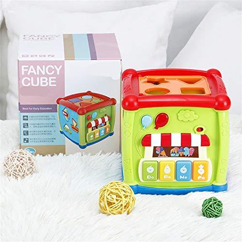 Juguetes para rampa de coche, centro de juego multiusos para niños pequeños ocupados estudiante cubo con formas laberinto música engranajes reloj educativo juguetes educativos para adultos y niños