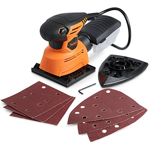 VonHaus Electric Palm Detail Sheet Sander with 14000 RPM, 6...