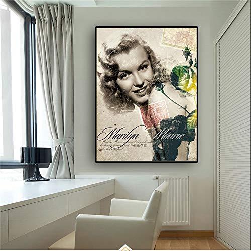 Geiqianjiumai vintage filmafiche en bedrukt frameloze muurschildering van de Scandinavische Kudros op canvas