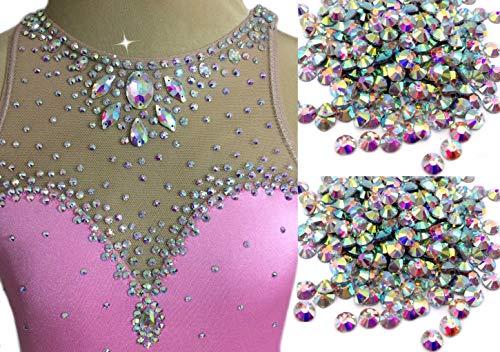 Brillabenny Cristales Aurora Boreal AB Crystal termoadhesivos Hotfix brillantes patinaje baile vestido...
