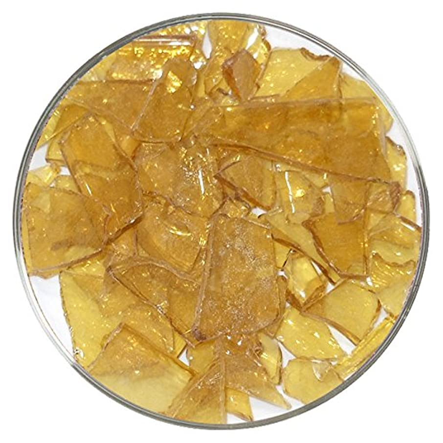 Pale Amber Transparent Mosaic Frit - 4oz - 96COE - Made from System 96 Glass